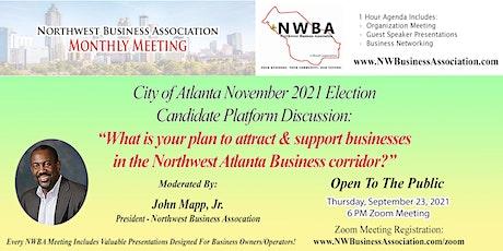 Northwest Business Association - Candidate Platform Discussion tickets
