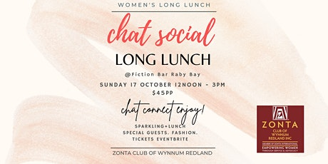 Chat Social Long Lunch tickets