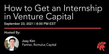 Step-by-Step: How to Break into Venture Capital tickets