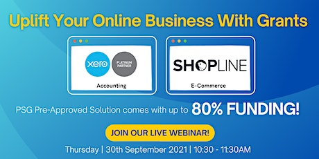 Webinar - Uplift your online business with grants tickets