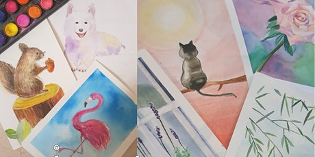 Watercolour Painting  Course - Beginners starts Nov 1 (8 sessions) tickets