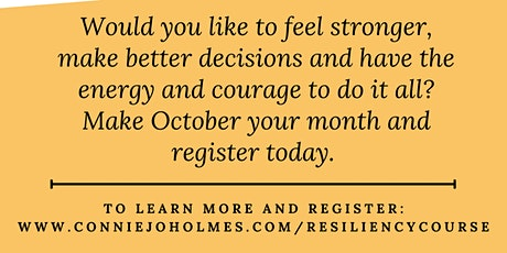 Resilience, Energy and Focus Online Course tickets