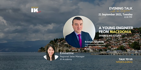 Evening talk with an Engineer - Story about a young engineer from Macedonia tickets