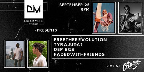 DM Presents Free The Revolution, Tyra Jutai, Dep BCS and Fadedwithfriends tickets