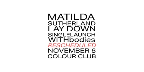 Matilda Single Launch, with bodies tickets