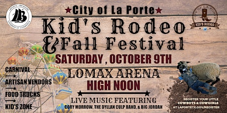 City of La Porte Kids Rodeo and Fall Festival tickets