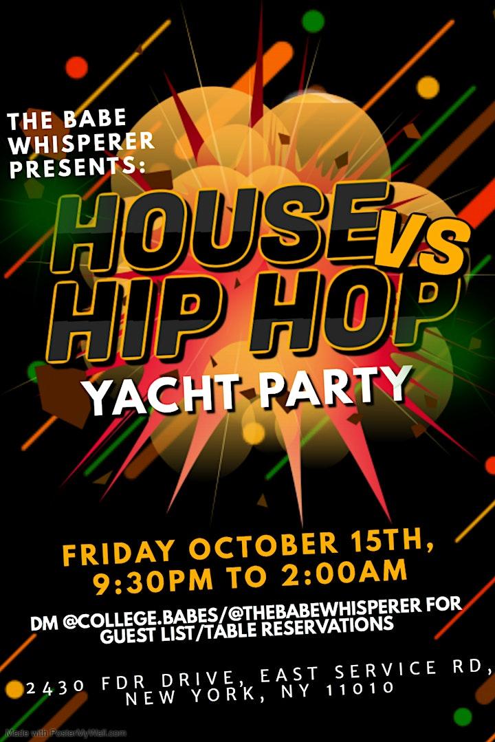 House vs. Hip Hop Yacht Party! image