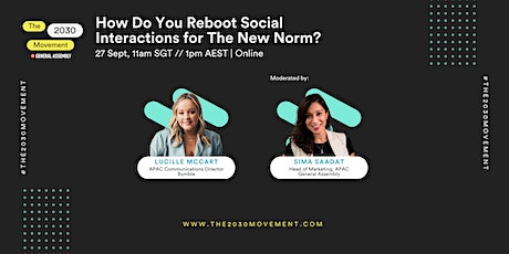 2030 Movement: How Do You Reboot Social Interactions For The New Norm? tickets
