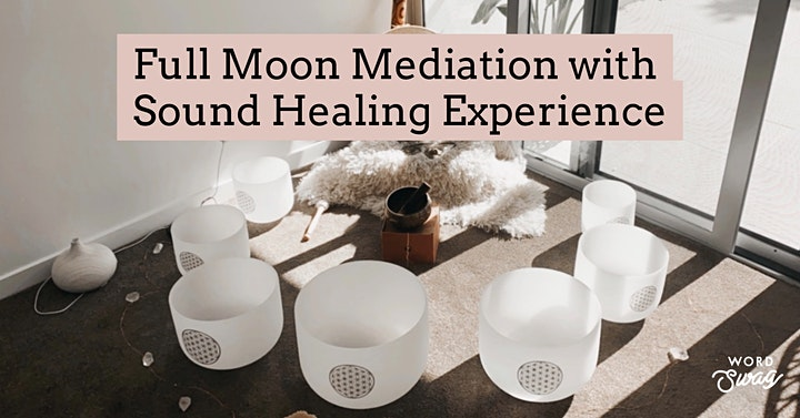 Online Full Moon Meditation & Crystal Bowl Sound Healing Experience image