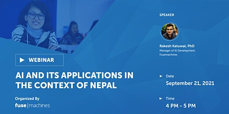 AI and Its Applications in the Context of Nepal tickets