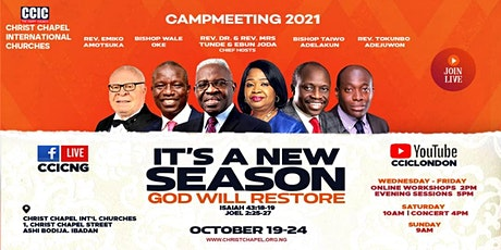 CCIC Campmeeting 2021 tickets