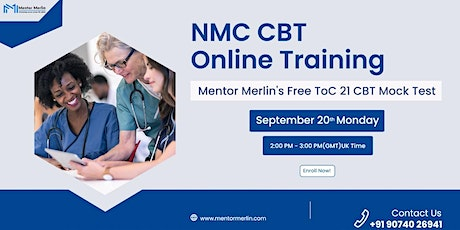 NMC ToC21 CBT Free Mock Test from Mentor Merlin tickets