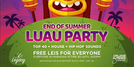 PEACH PARTY SUNDAYS OC @ THE LEGACY OC 18+ / END OF SUMMER LUAU PARTY tickets