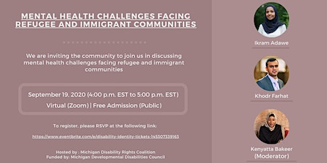 Mental Health Challenges Facing Refugee and Immigrant Communities tickets