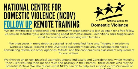 Domestic Violence training SESSION 2 tickets