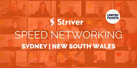 Striver Virtual Speed Networking Sydney, New South Wales tickets