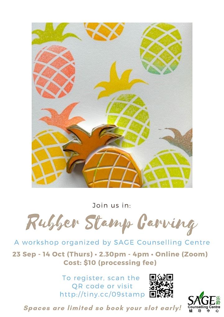 [SAGECC Silver September] Rubber Stamp Carving image