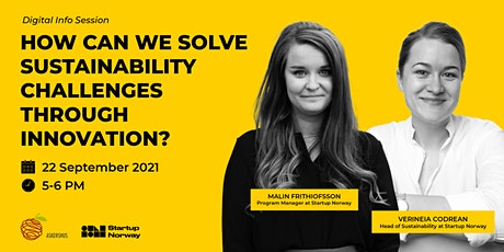 How to solve sustainability challenges through innovation? tickets