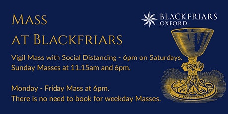 Vigil Mass [With Social Distancing] - 25 September tickets