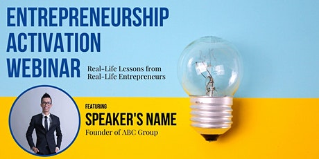 Entrepreneurship Activation Webinar feat. Chealers Chang, Founder of ABC tickets