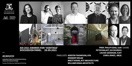 ACAHUCH + AIA 2021 Awards for 'Heritage' Discussion Panel tickets