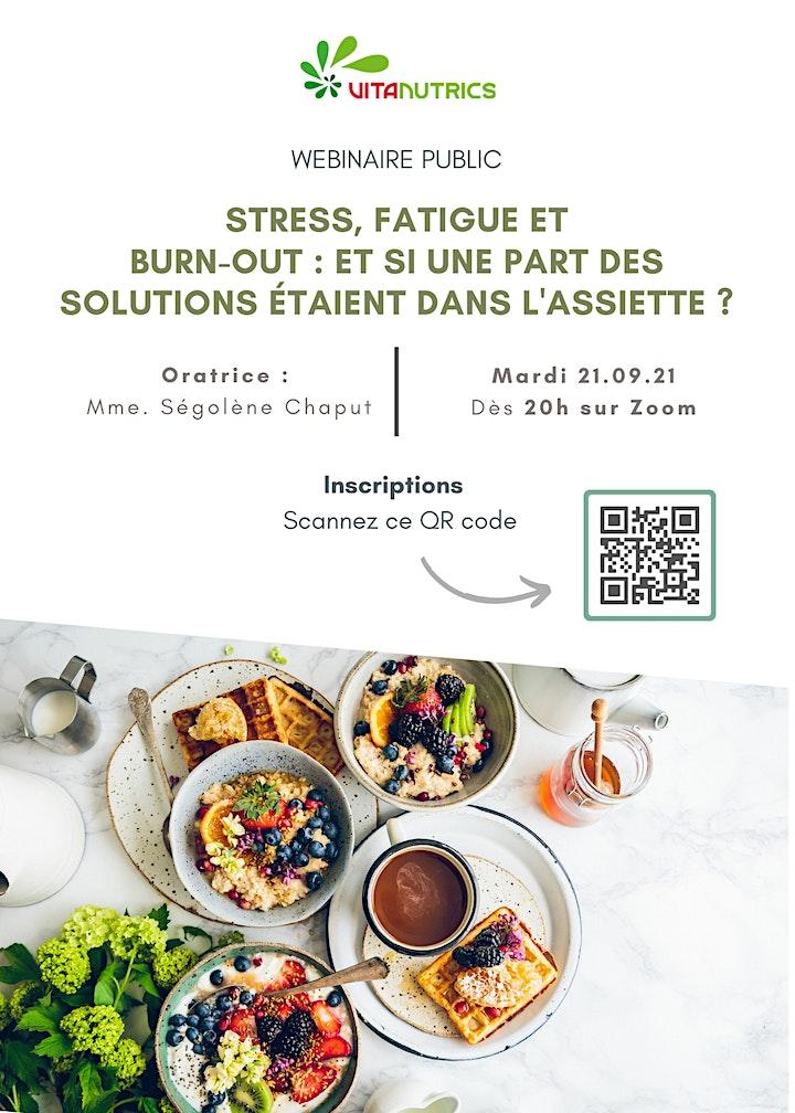 Image pour Webinaire : Stress, fatigue et alimentation