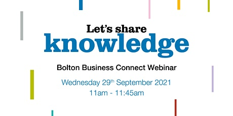 Let's share knowledge - Bolton Business Connect tickets