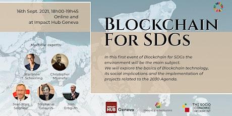 Blockchain for SDGs tickets