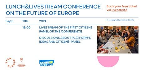 Lunch & Livestream of the Conference on the Future of Europe tickets