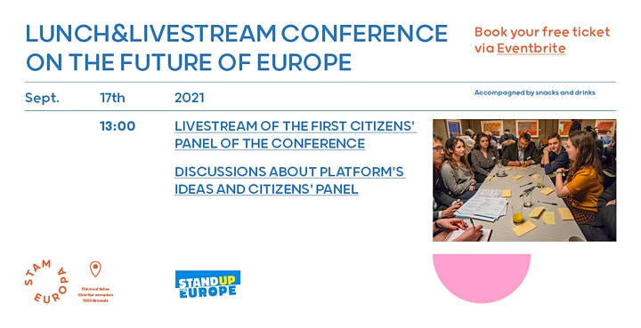 Afbeelding van Lunch & Livestream of the Conference on the Future of Europe