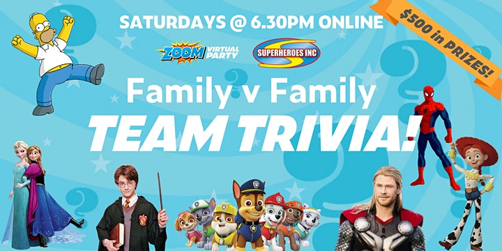 LOCKDOWN Family Trivia Challenge - FAMILY v FAMILY image