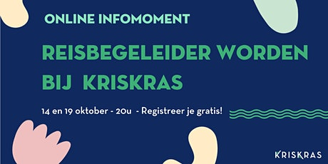 Infomoment Reisbegeleider Worden bij KrisKras - 14/10 tickets