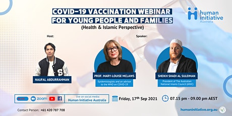 COVID-19 VACCINATION WEBINAR  FOR YOUNG PEOPLE AND FAMILIES tickets