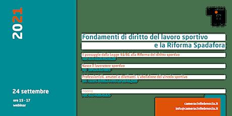 Fondamenti del diritto del lavoro sportivo e la riforma Spadafora biglietti