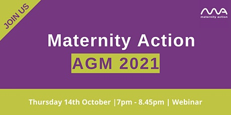 Maternity Action's 2021 AGM and Webinar tickets