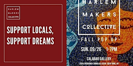 Harlem Makers Collective at Calabar Gallery: September 26, 2021 tickets