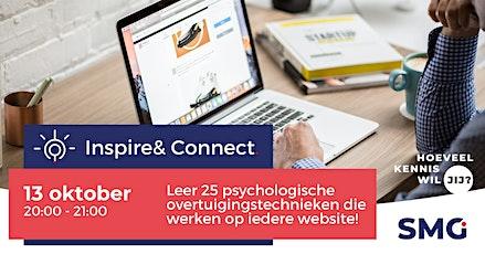Inspire & Connect LIVE | 13 oktober | Masterclass Online Overtuigen tickets