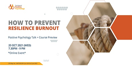 How to Prevent Resilience Burnout: Online Talk + Preview tickets