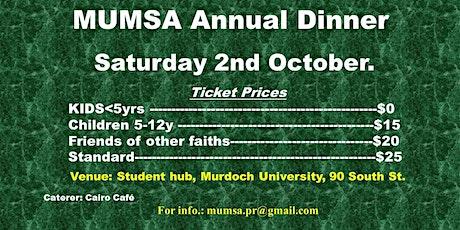MUMSA's Annual Dinner tickets