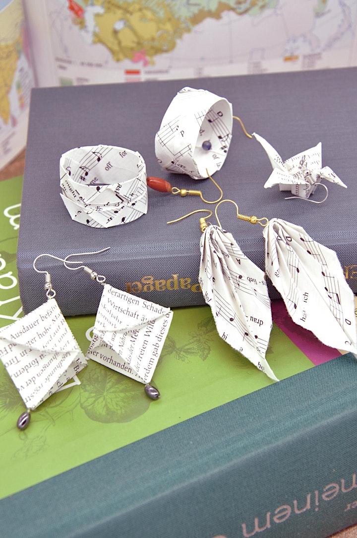 Origami Schmuck aus Upcycling Materialien: Bild