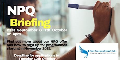 NPQ Briefing tickets