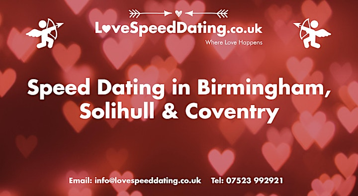 Speed Dating Singles Night Ages 30's & 40's Birmingham image