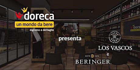 Doreca presenta Beringer e Los Vascos biglietti