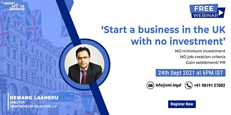 FREE Webinar - Start a Business in the UK with NO Investment. tickets