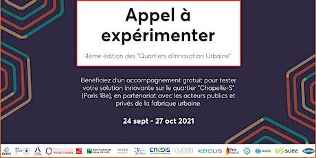 4ème édition des Quartiers d'Innovation Urbaine - Réunion d'information billets