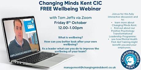 Wellbeing Webinar - Transformational Leadership Programme Introduction tickets