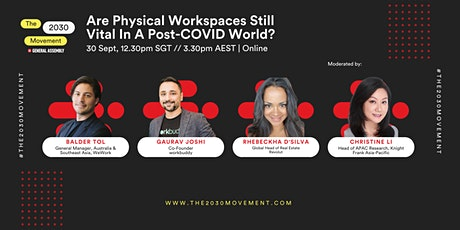 2030 Movement: Are Physical Workspaces Still Vital In A Post-COVID World? tickets