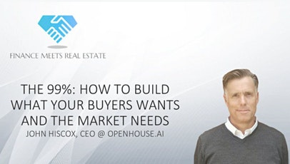 The 99%: How to Build What Your Buyer Wants and the Market Needs tickets