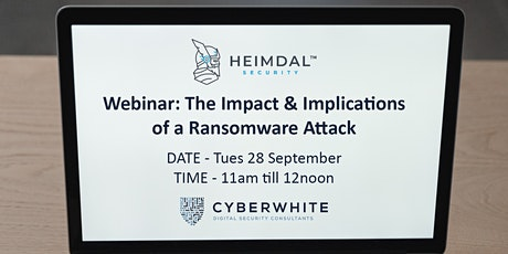 Heimdal Webinar - The impacts & implications of a ransomware attack tickets
