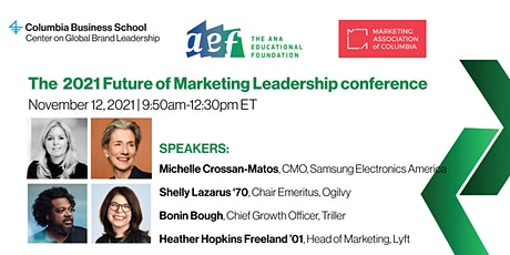 The 2021 Future of Marketing Leadership conference tickets